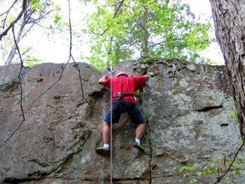 The park's location also makes it great for rock climbing. The rocky outcropping and bluffs found in Tishomingo don't exist anywhere else in the state.