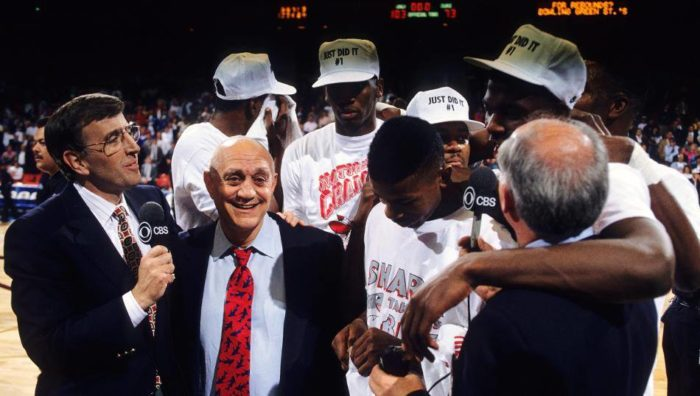 4.	1990: The UNLV Runnin' Rebels basketball team crushes the Duke Blue Devils, wins coveted NCAA Championship title