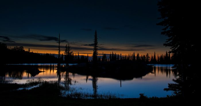 14. Night fading into dawn over Blue Lake is simply magical.