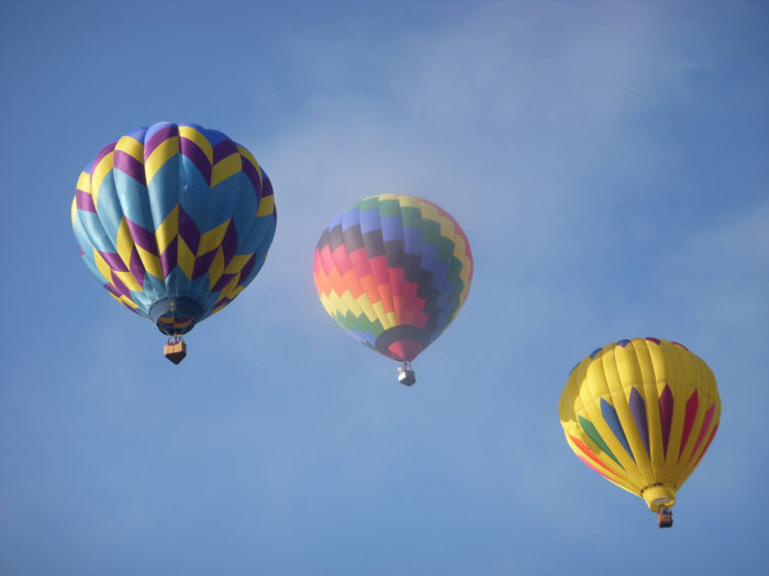 2. Ride the sky in a hot-air balloon.