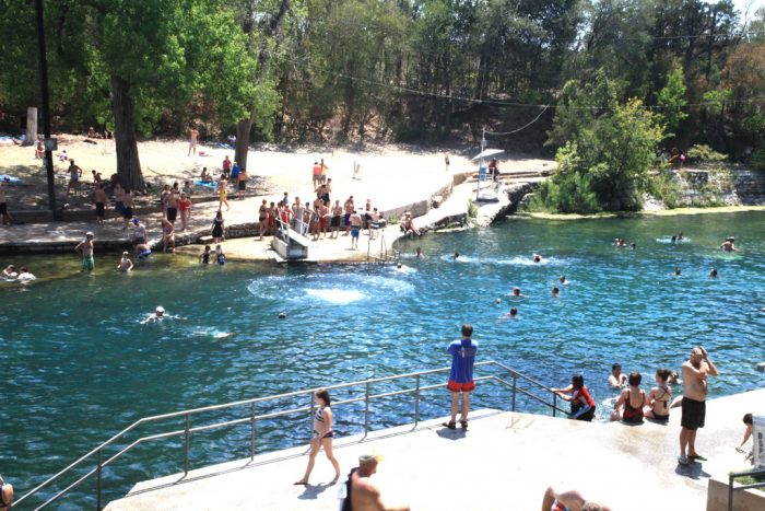 Beautiful Spring Fed Swimming Pool In Texas