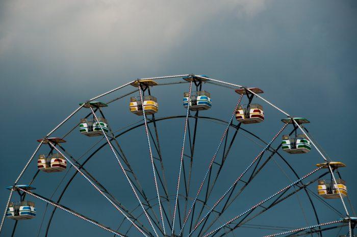 7. Atop a ferris wheel