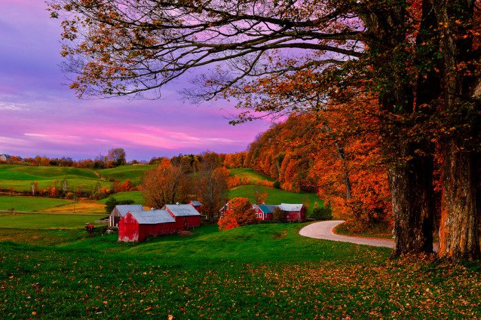 2. Vermont: Jenne Farm, Reading, is one of the most photographed Farms in North America.