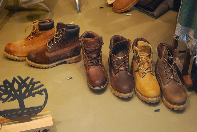 9. .... Or Timberland boots.