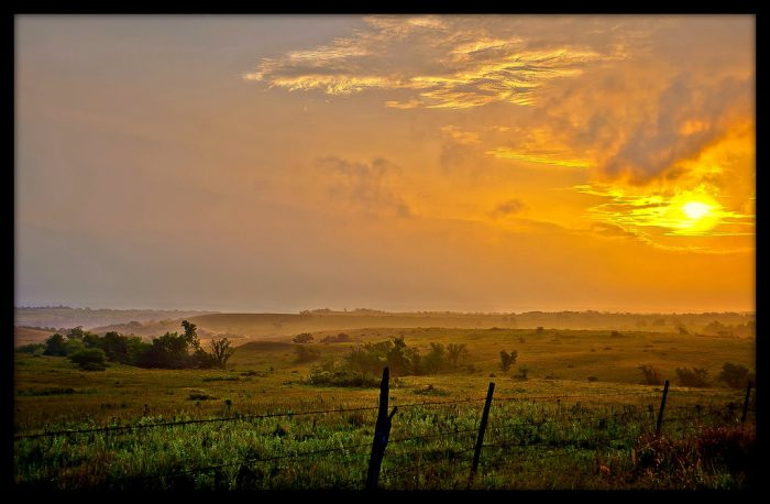 10. The Sunflower State is home to the most beautiful sunrises...