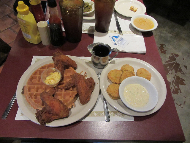 4. Chicken and Waffles