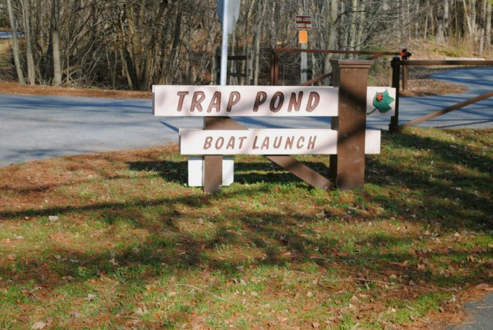8. Kayak at Trap Pond State Park