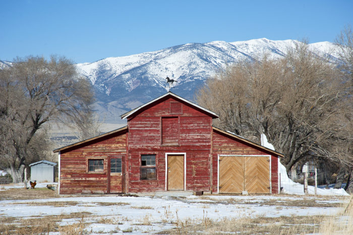 3. This old red barn is located in central Nevada, along the Great Basin Highway. The scenery surrounding it is BREATHTAKING.