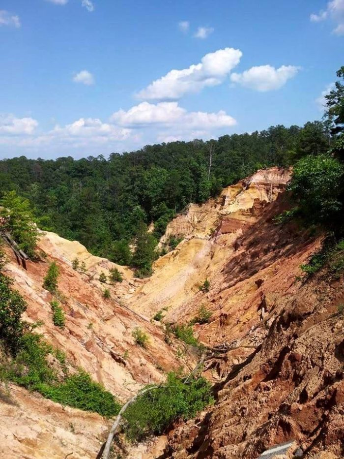 And unlike its famous counterpart, Red Bluff is constantly getting bigger due to erosion.