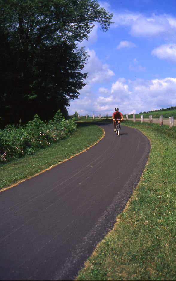 The trails that wind through Moraine State Park are ideal for biking, hiking, and leisurely strolls.