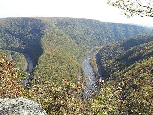 7.  Stand above Lehigh Gorge for a priceless view of the Lehigh River and lush green below.