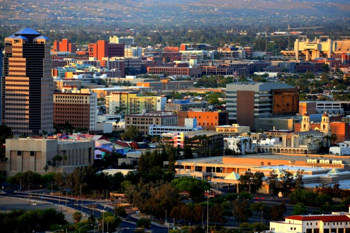 12. Tucson's downtown area has been booming in recent years thanks to revitalization efforts and the streetcar line.
