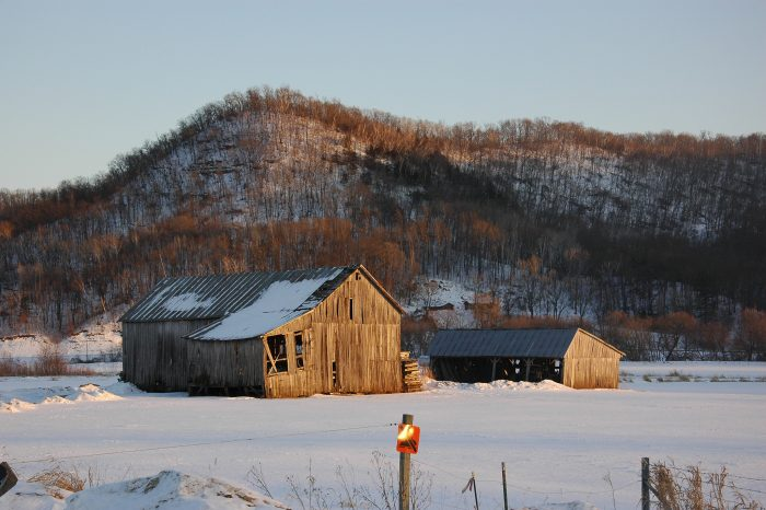 5. Even the most dilapidated of barns looks amazing under a blanket of snow.