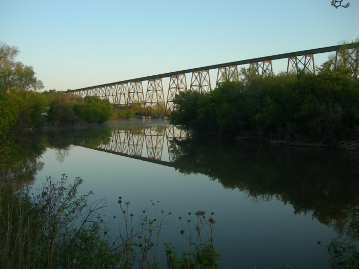 4. The High Line Bridge, another in Valley City, at one point the longest and highest suspended railroad bridge in the country