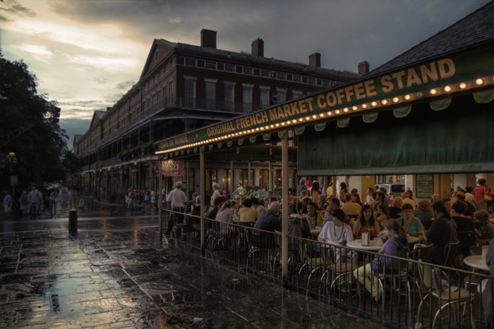 3. Right After A Thunderstorm At Cafe Du Monde