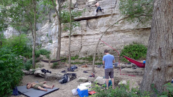 6. Heck, call up the boys and make it an entire day of adventure at the Greenbelt...napping, hammocking, rock climbing anyone?