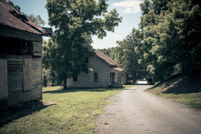 14. Henry River Mill Village was made famous by the Hunger Games, but this is the one eerie ghost town in North Carolina you can walk through.