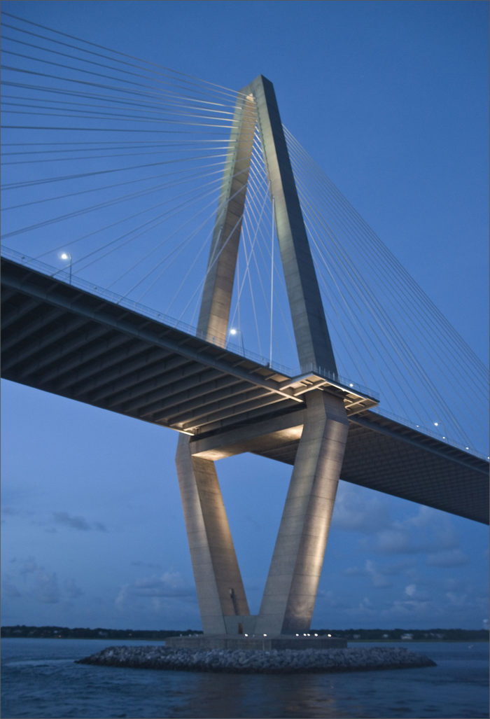 7. Arthur Ravenel Jr. Bridge connecting Charleston to Mt. Pleasant.