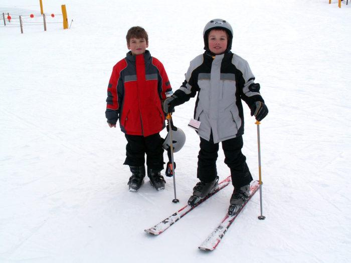 12. P.E. = Skiing...