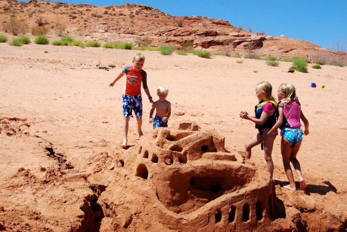 5. Build a sand castle...or a sand fortress.