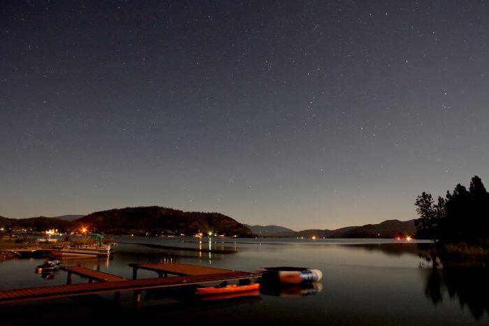 11. Lake Pend Oreille under a million stars.