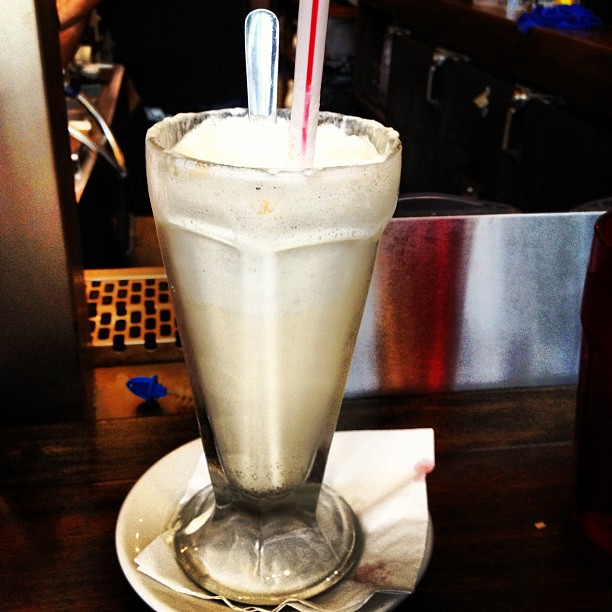 7. It's also got a signature float, the Boston Cooler, made with scoops of vanilla ice cream (pictured here). And is often mixed into drinks...