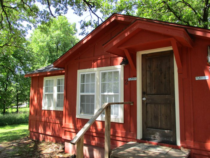 8. The Little Red Cabins.