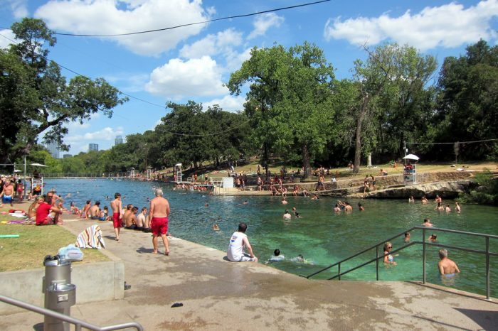 9. No matter what the temperature is out, cannonball straight into Barton Spring's icy cold waters.
