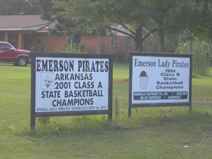10.Ah yes, our towns love to tout their athletic accomplishments.