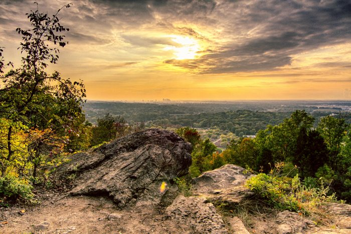 5. The overlook on Ruffner Mountain has created such a spectacular view of Birmingham.