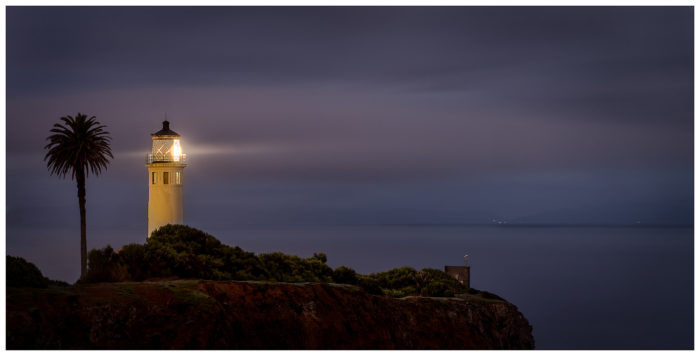 6. San Vicente Lighthouse in Rancho Palos Verdes  casts a magical glow across the night sky.
