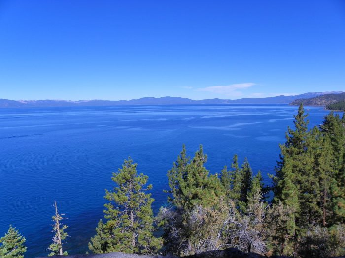 1. This beautiful view of Lake Tahoe is from Vista Point Overlook in Douglas County.