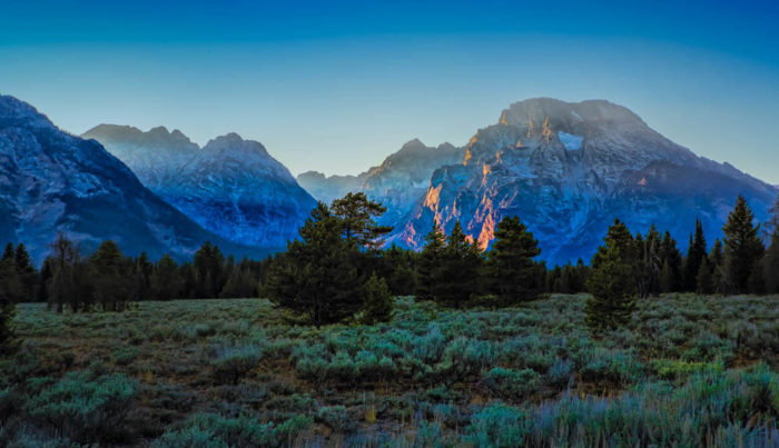 1. Watch a sunrise over the Tetons.