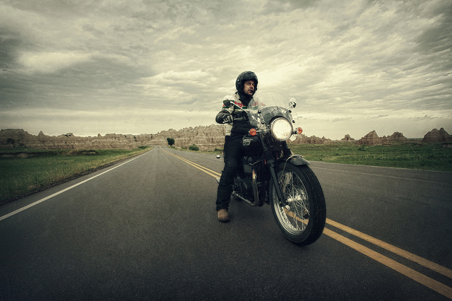 9. Take your motorcycle out for a long drive.