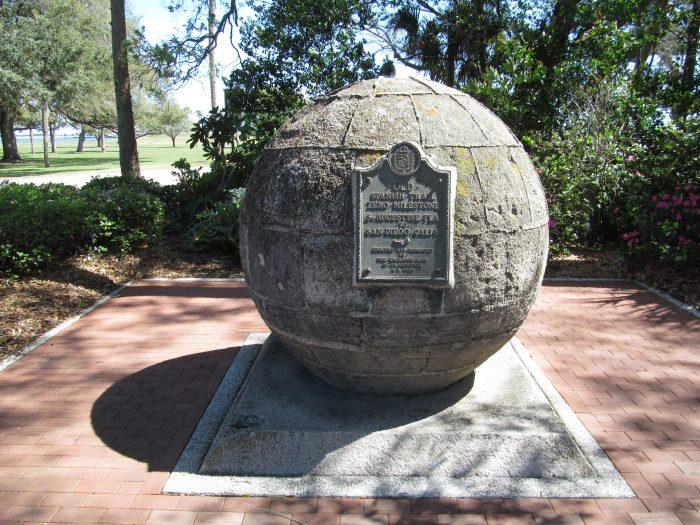 Old Spanish Trail Zero Milestone - St. Augustine to San Diego, CA