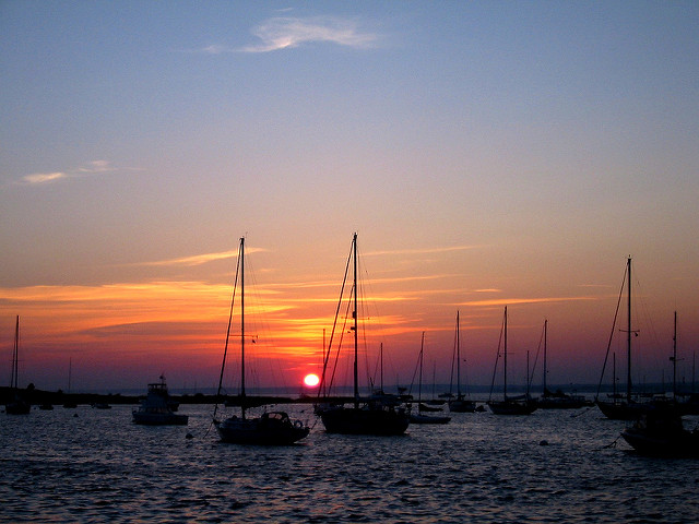 10. Watch the sunset over one of the state's beautiful harbors.