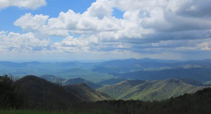 5. A Blue Ridge Mountain overlook