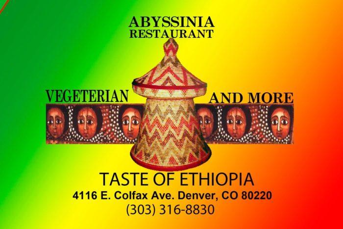 7. Abyssinia Restaurant, 4116 East Colfax Avenue