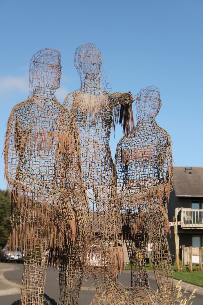 The artsy town is dotted with art galleries and public sculptures like this one.