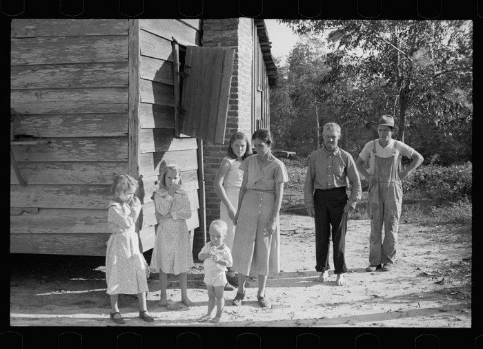 16. A poor farming family in Georgia.