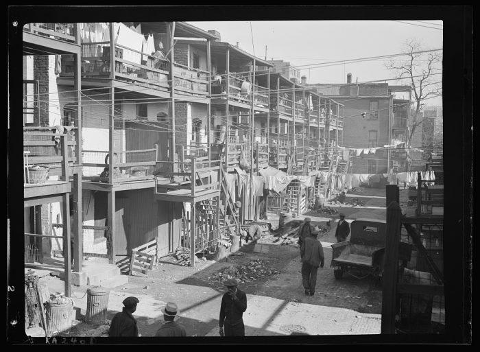 21. A slum neighborhood in Washington D.C.