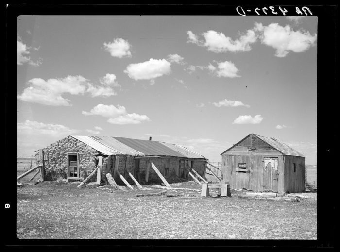 1. A sod house - common for most of the original homesteaders - in Pennington County. 1936