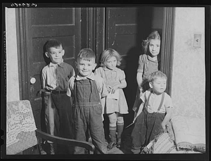 10. These are just five out of a total of 11 children who lived in a small, cramped house in Quincy.