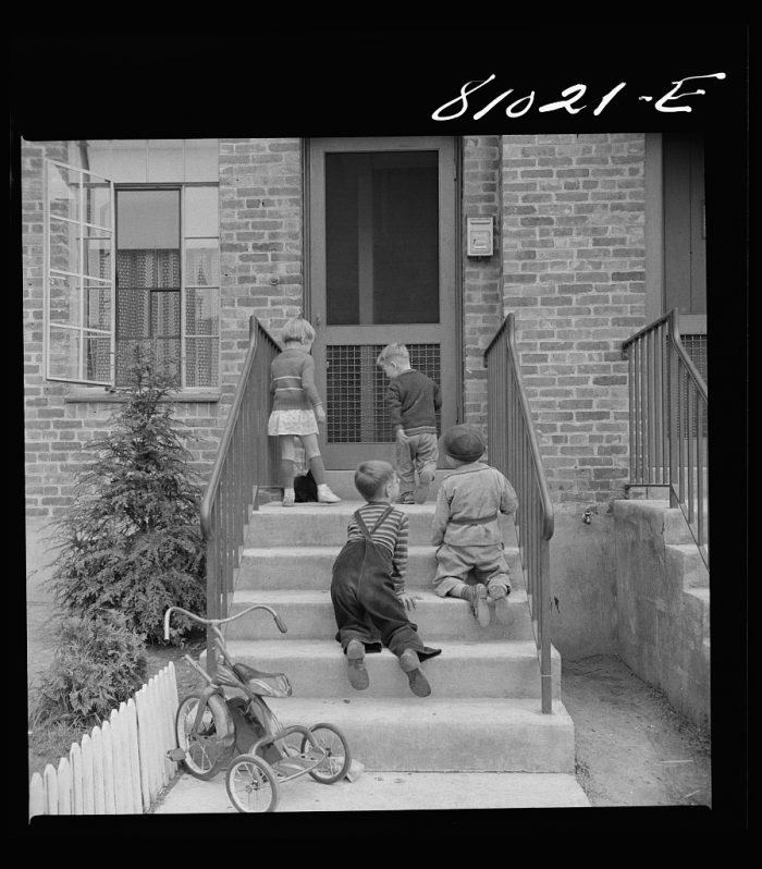 16. Children playing in the housing projects in Holyoke.