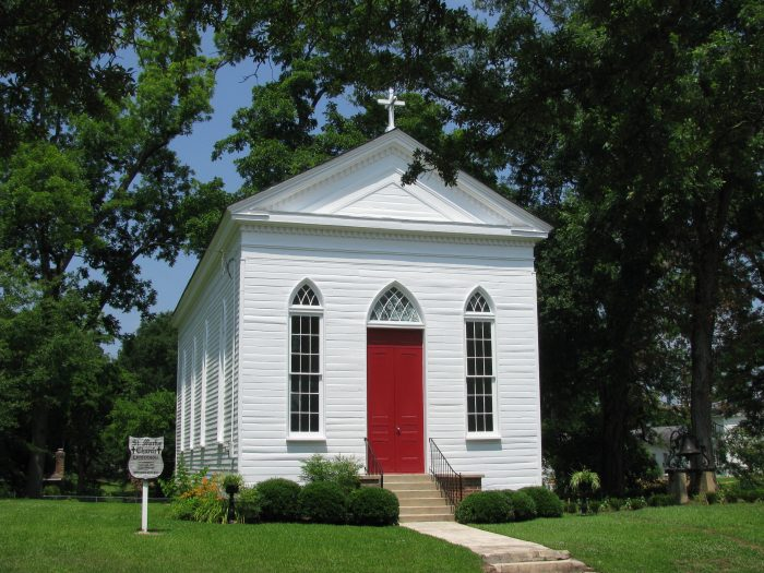 Across the street from the courthouse is St. Marks Episcopal Church – the oldest structure in Raymond. Following the Battle of Raymond, injured soldiers were treated in this church, and according to reports, bloodstains are still visible on the church's wood floors.