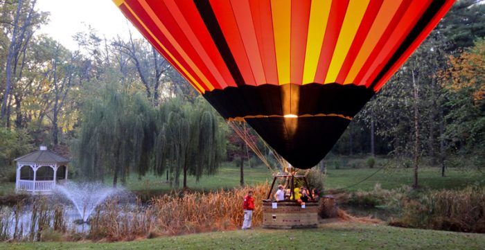 8. Take off on a hot air balloon ride.