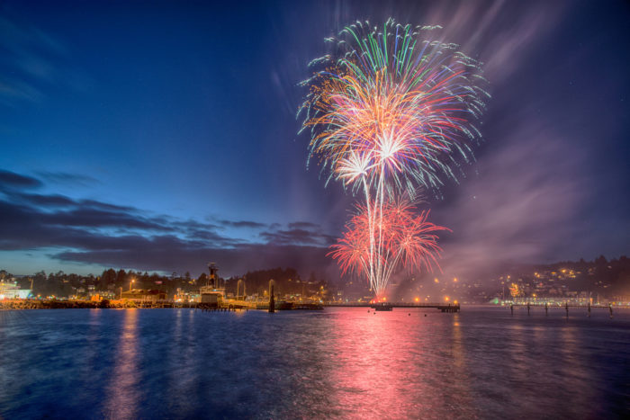 9. Fireworks over Yaquina Bay