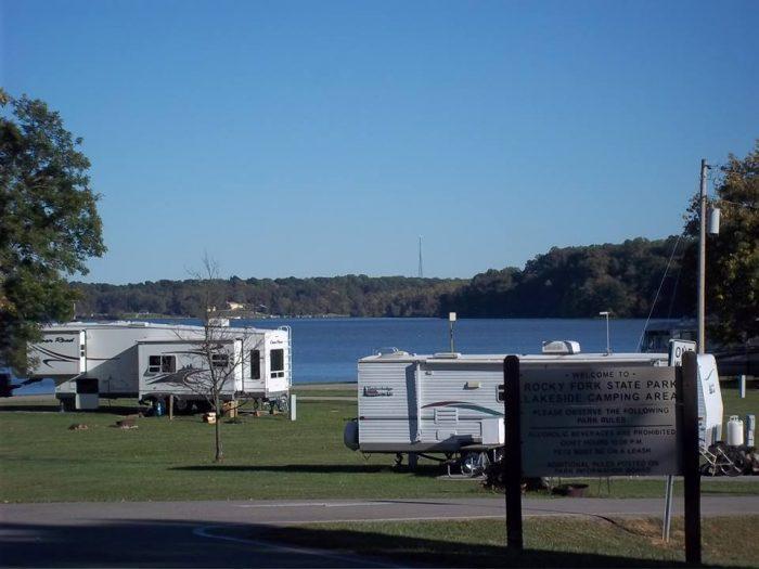 8. Rocky Fork Lake