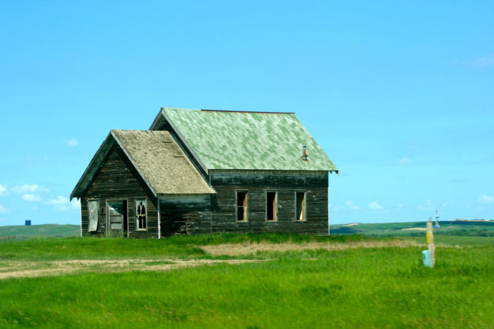 9. I imagine this was a nice farm house at one point, but now it is a ghost of the prairie, and I wouldn't trust being inside for a second.
