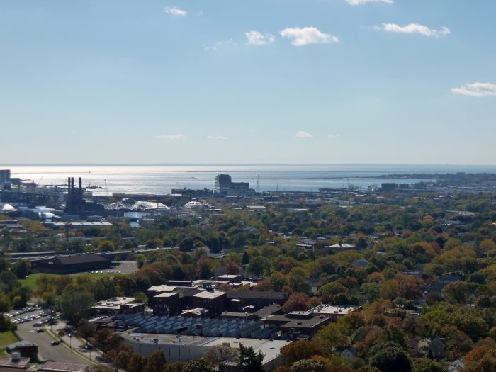 For instance, this view of the Long Island Sound from the top is gorgeous.